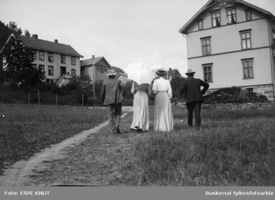 En gruppe mennesker på landtur