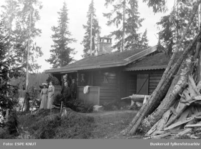På hyttetur til Øyangen på Krokskogen rund 1900