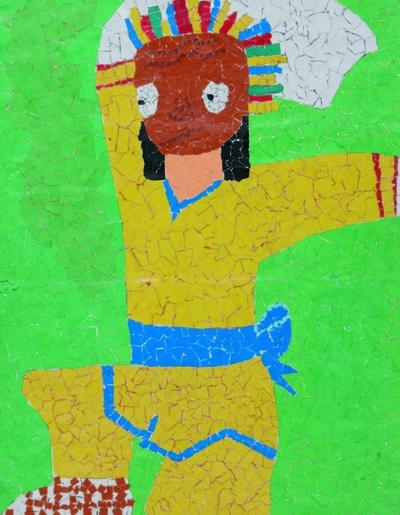A masked dancer