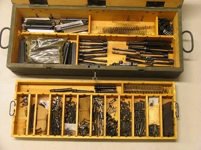 Reservedelskasse 9mm pistol Luger