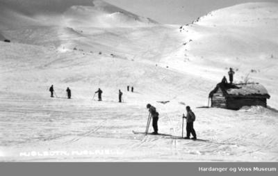 folk på skitur