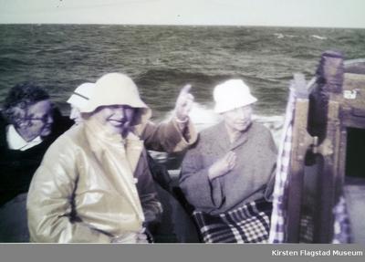 Kirsten Flagstad i båt