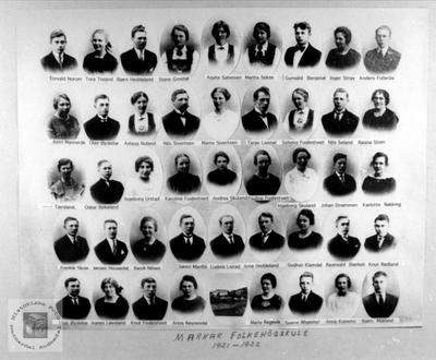 Marnar Folkehøgskole 1921-1922
