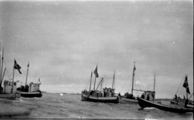 Mottakinga i 1945 av dei som kom heim til Bulandet frå krigsfangenskap