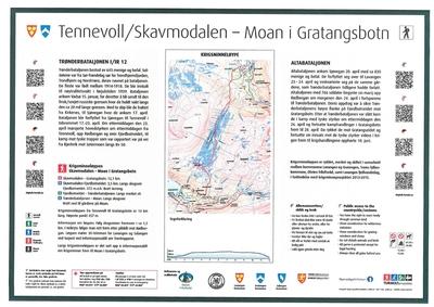 Krigsminneløype Start Skavmodalen - Gratangsbotn - Samisk