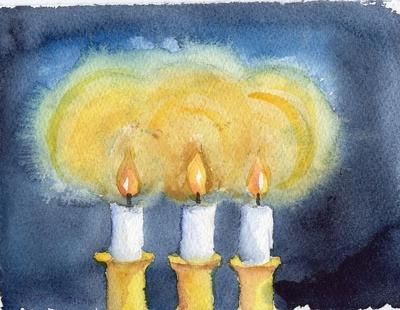 4) Stearinlys i adventstiden - Sparkeføre