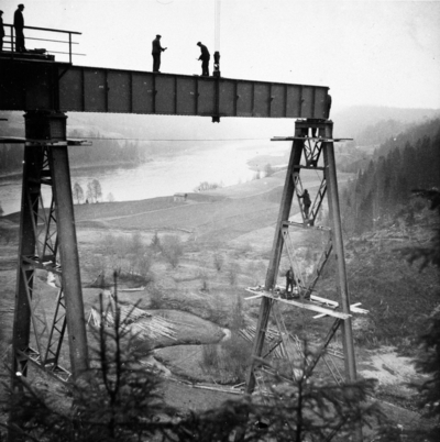 Bygging av Trolldalen viadukt