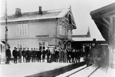 Frida Milde, telegrafistinne på Kongsvinger stasjon