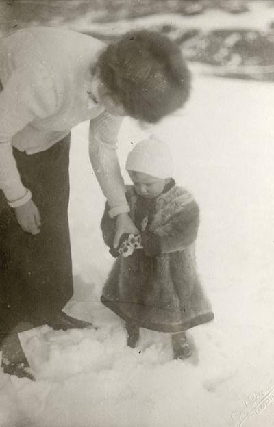 Klaus Witt (Petersson) vinterkledd i snø