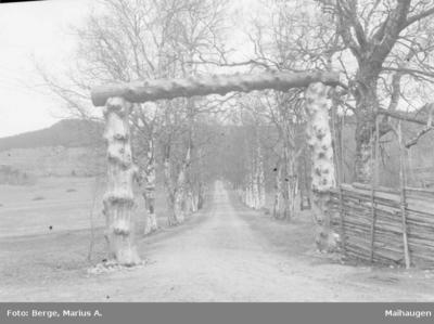 Portal ved Lunde gård