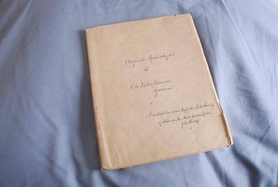 Original-Manuskriptet til Ole Bulls