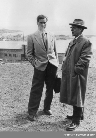 Lensmann Arvid Dahl og Veisjef Johannes B Irgens