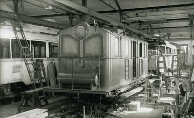 ASEA-lokomotivet som ble sprengt på Orkanger stasjon 31/10-43 under reparasjon