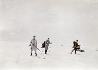 3 menn på ski