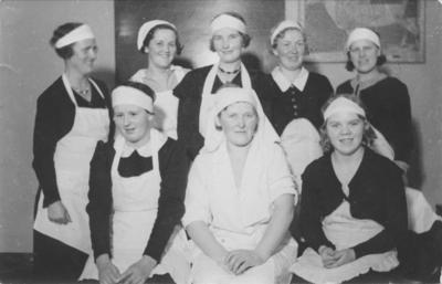 En gruppe servitører