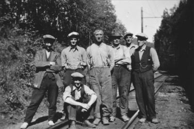 Banearbeidere i Klingliene på Thamshavnbanen