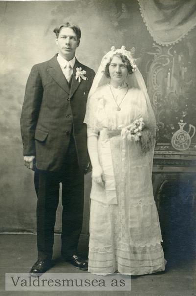 Brudeparet Anna og Thorvald Høneren