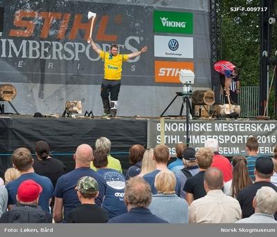 Under De nordiske jakt- og fiskedager på Norsk Skogmuseum i 2016 arrangerte motorsagprodusenten Stihl nordisk mesterskap i noe de kalte «Stihl timbersports»