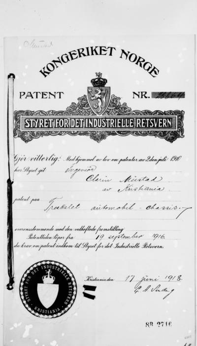 Patentbrev nr