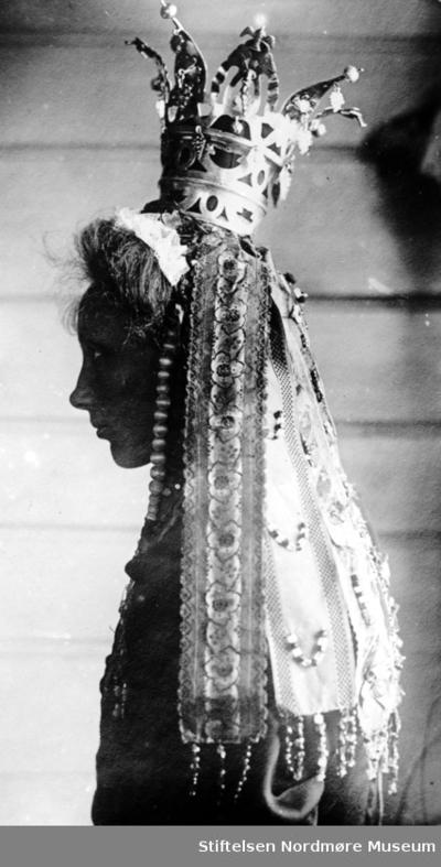Portrett av ei kvinne i siluett
