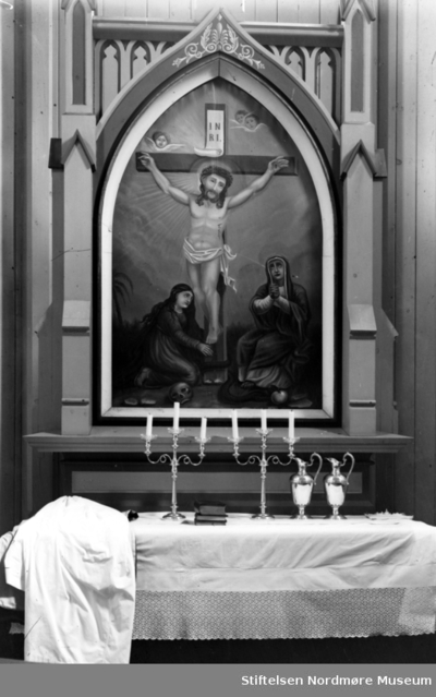 Foto muligens fra Bremsnes kirke på Averøy