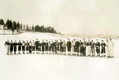Det norske og det japanske hopplandslaget i Lake Placid