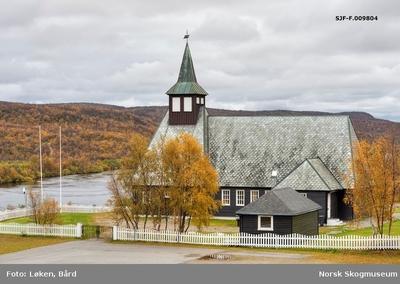 Masi (Máze) kirke i Kautokeino (Guovdageainnu) kommune i Finnmark