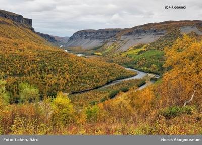 Fra Suatso i dalføret langs Altaelva/Àlttáeatnu i Finnmark