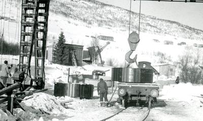 Avlasting fra godsvogn på sidespor Geilo