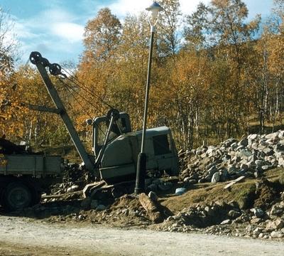 Gravemaskin til Oslo Lysverker ved Villandsbekken