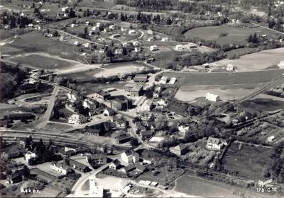 Flyfoto fra Asker sentrum