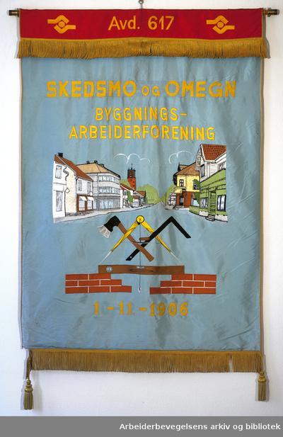 Skedsmo og omegn byggningsarbeiderforenings fane
