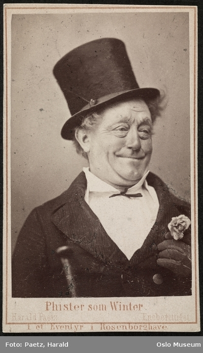 Phister som Winther i Eventyr i Rosenborg have.