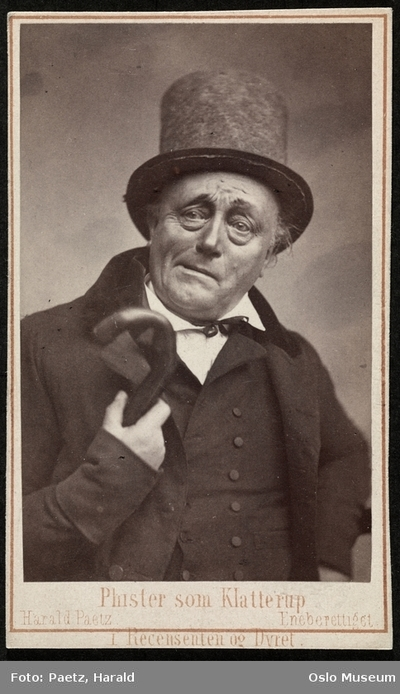 Phister som Klatterup i Recencenten og Dyret.