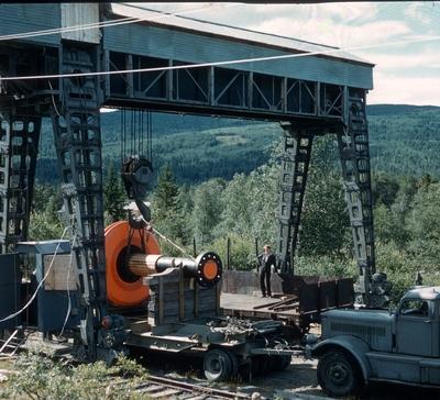 Transport av Generator frå Sangelien