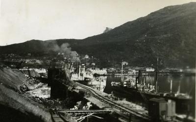 LKABs kaianlegg etter krigsødeleggelser