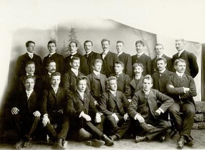 Lærerskoleelever Elverum 1907 - 1908