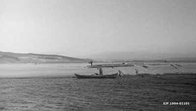 Robåt ved Glennetangen lenser i Skiptvet i Østfold