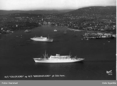Passasjerskipene Oslofjord og Bergensfjord