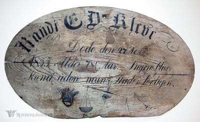 Randi E Kleive døde den 27Nov 1855