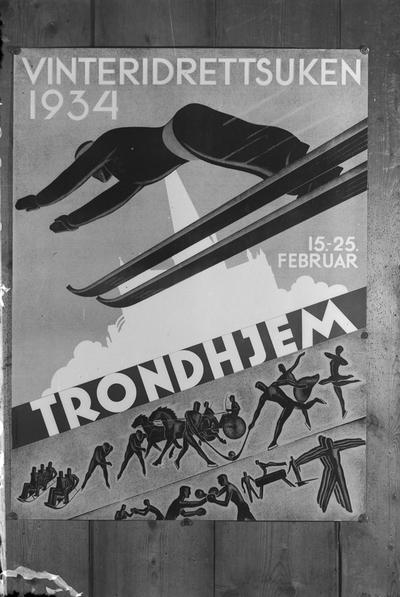 Plakat fra Vinteridrettsuken 1934