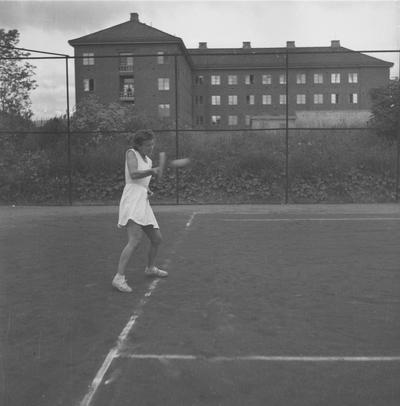 Tennismesterskap fot. på Øya Fru Holm Fru Hennum