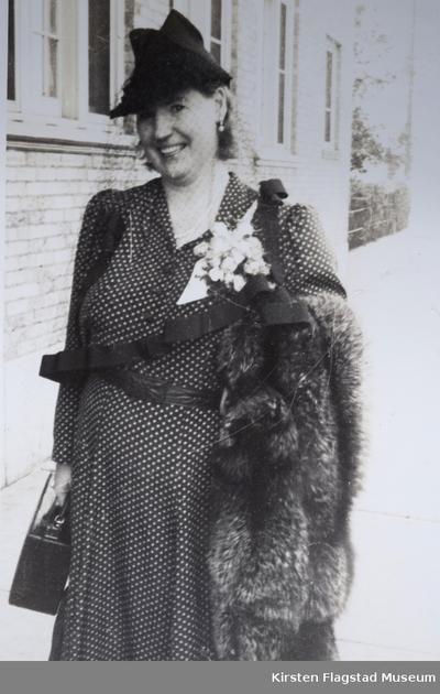 Kirsten Flagstad ved sin datter Else Maries bryllup med Arthur Dusenberry 10