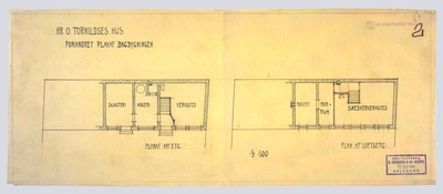 Hr. O.Torkildsens Hus Røisegd. Forandret plan af bagbygningen