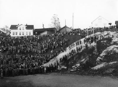 Oppvisningsrenn ved Skauløkka Sankthans 1951