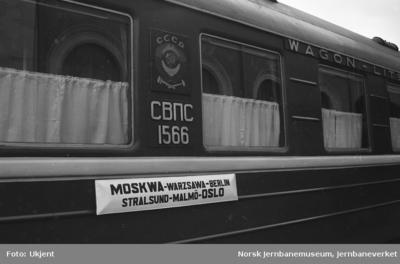 Sovjetisk sovevogn på Oslo Ø