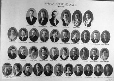 Marnar Folkehøgskole 1929-1930