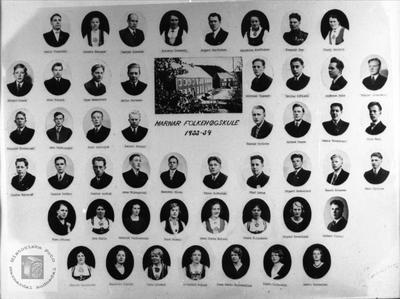 Marnar Folkehøgskole 1933-1934