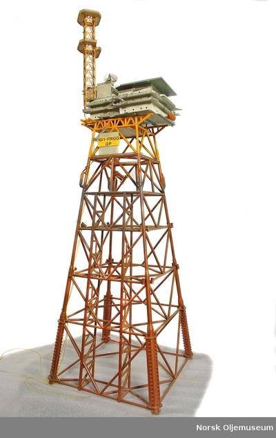 OMNIA - Modell av plattformen Frigg QP 2fc33d982c4db