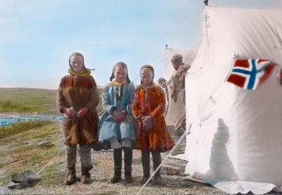 Fra foredragsrekken Landmålerlivet i Finnmark v/Axel Printz : Besøk i leiren